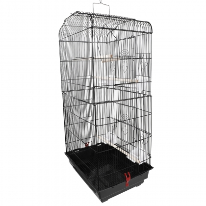 """37/"""" Large Pet Bird Cage Hanging Parrot Aviary Canary Finch Portable Perches"""