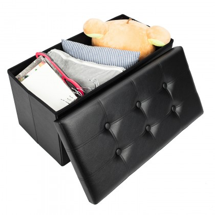 Awesome Bonnlo Rectangle Shape Pvc Leather Surface Storage Ottoman Uwap Interior Chair Design Uwaporg